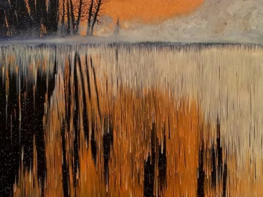 Obraz do salonu artysty Jacek Malinowski pod tytułem Nebbia serale
