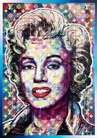 Obraz do salonu artysty Michał Mąka pod tytułem Modern Marilyn