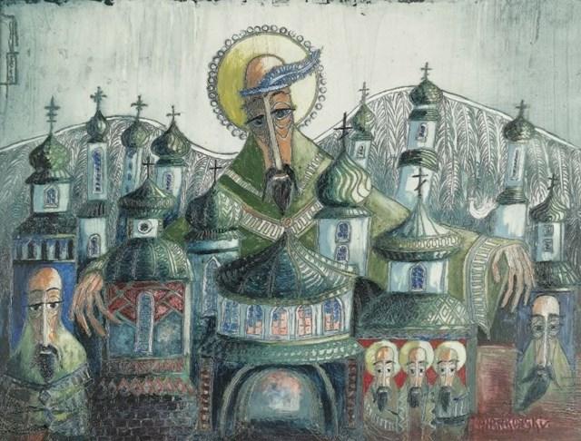 Obraz do salonu artysty Juliusz Hankowski pod tytułem Wszechogarniający