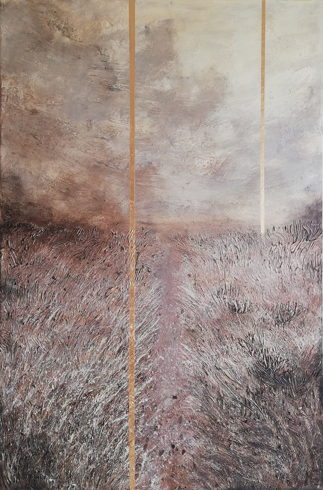 Living room painting by EWA MRÓZ titled LAST ROAD