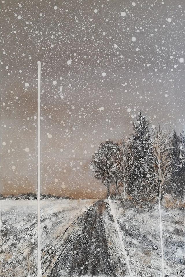 Obraz do salonu artysty EWA MRÓZ pod tytułem NIGHT