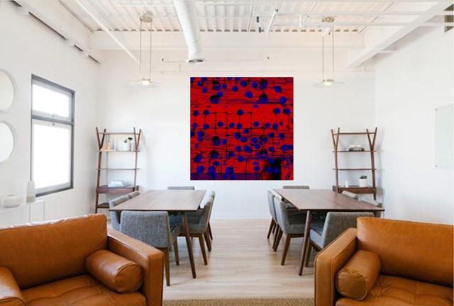 RedandBlue#14 - wizualizacja pracy autora Daria Ilow