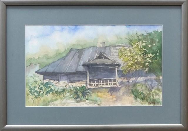 Obraz do salonu artysty Wojciech Kiss-Orski pod tytułem Stara chałupa