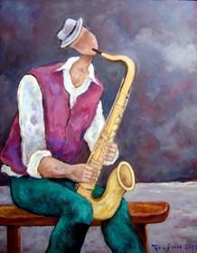 Obraz do salonu artysty Henryk Trojan pod tytułem Jazz