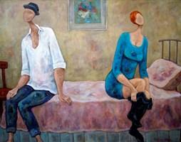 Obraz do salonu artysty Henryk Trojan pod tytułem Zwykły dzień