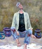Obraz do salonu artysty Henryk Trojan pod tytułem Sprzedawca garnków