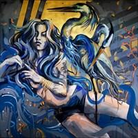Living room painting by Kamila Jarecka titled Lake