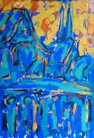 Obraz do salonu artysty Adam Bojara pod tytułem 70. FRANKFURT