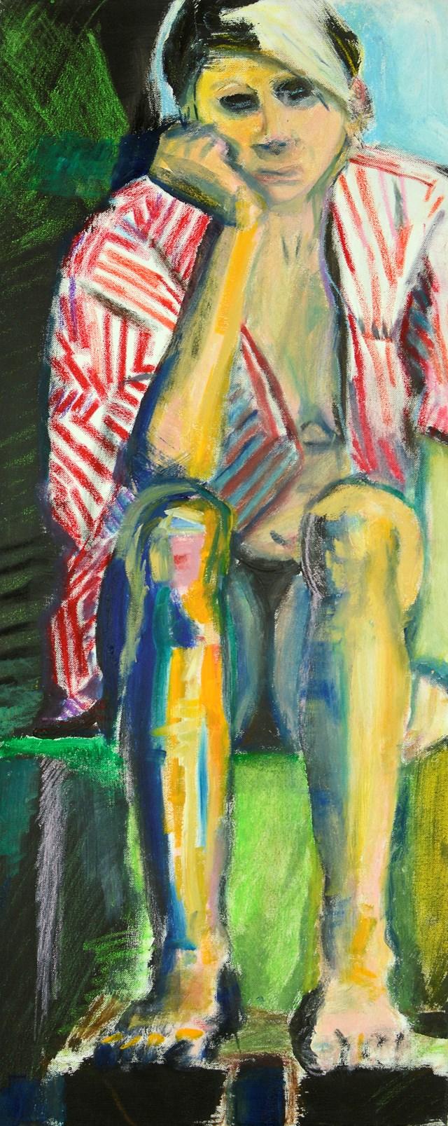 Obraz do salonu artysty Katarzyna Kaźmierska pod tytułem Zamyślenie