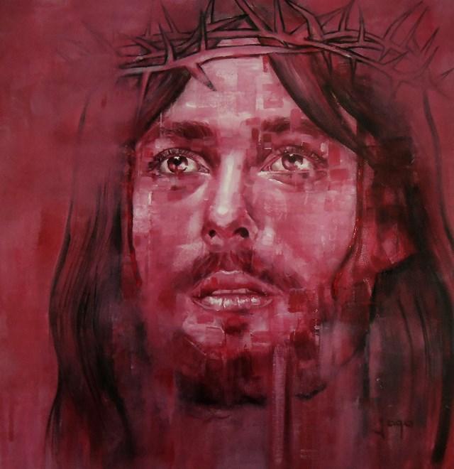 Obraz do salonu artysty Jaga Szczepanik pod tytułem Jezus