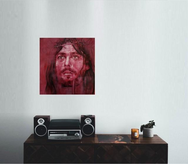 Jezus - wizualizacja pracy autora Jaga Szczepanik