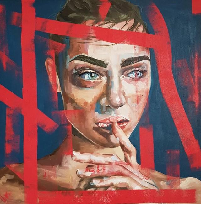 Obraz do salonu artysty Zofia Wawrzynowicz pod tytułem Thinking of