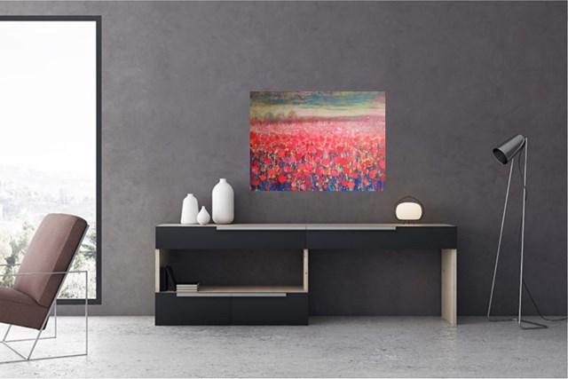 Red meadow - wizualizacja pracy autora Jacek Caputa