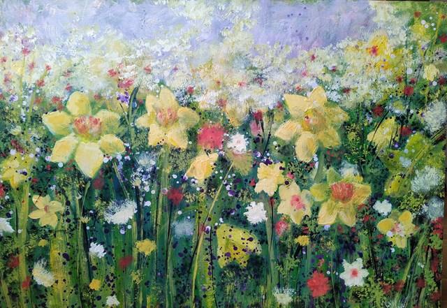 Obraz do salonu artysty Jacek Caputa pod tytułem Spring Meadow