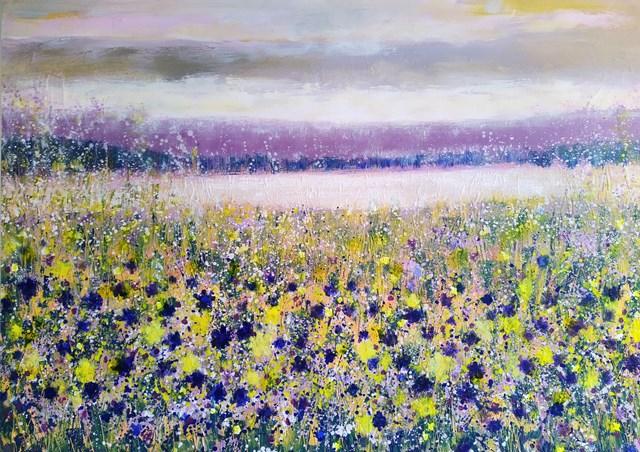 Obraz do salonu artysty Jacek Caputa pod tytułem Fioletowa łąka