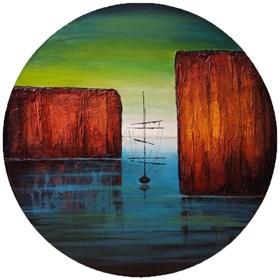 Obraz do salonu artysty Sabina Maria Grzyb pod tytułem Patykiem po wodzie