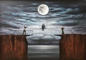 Obraz do salonu artysty Sabina Maria Grzyb pod tytułem Miłość w czasie zarazy