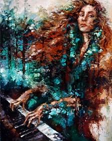 Obraz do salonu artysty Krystyna Róż-Pasek pod tytułem Dynamika