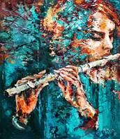 Obraz do salonu artysty Krystyna Róż-Pasek pod tytułem Światło melodii
