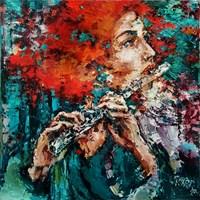 Obraz do salonu artysty Krystyna Róż-Pasek pod tytułem Żar