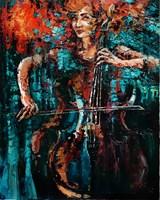 Obraz do salonu artysty Krystyna Róż-Pasek pod tytułem Drgnienie melodii