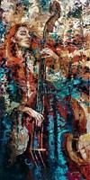 Obraz do salonu artysty Krystyna Róż-Pasek pod tytułem Błyszczące dzwięki