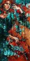 Obraz do salonu artysty Krystyna Róż-Pasek pod tytułem Nocna nostalgia