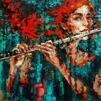 Obraz do salonu artysty Krystyna Róż-Pasek pod tytułem Wibracja dzwięku