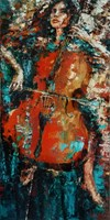 Obraz do salonu artysty Krystyna Róż-Pasek pod tytułem Wyczekiwanie brzmienia