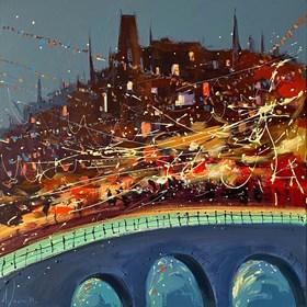 """Obraz do salonu artysty Aleksander Yasin pod tytułem """"Świąteczna Praga"""""""
