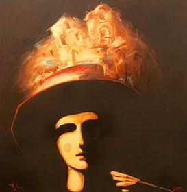 Obraz do salonu artysty Aleksander Yasin pod tytułem Enigmatyczne miasto