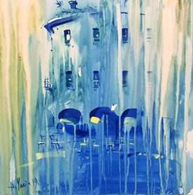 Living room painting by Aleksander Yasin titled Blue
