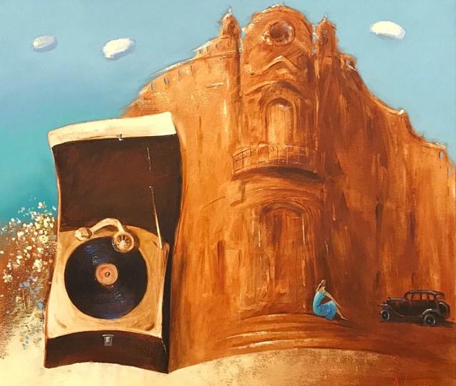 Obraz do salonu artysty Aleksander Yasin pod tytułem Epoka grana muzyką