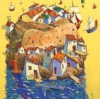 Obraz do salonu artysty Aleksander Yasin pod tytułem Wyspa marzeń