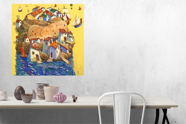 Wyspa marzeń - wizualizacja pracy autora Aleksander Yasin
