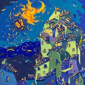Obraz do salonu artysty Aleksander Yasin pod tytułem Wędrówki Światła