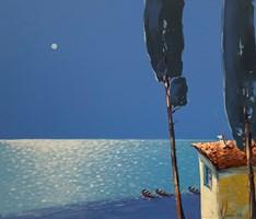 Obraz do salonu artysty Aleksander Yasin pod tytułem W srebrze księżyca