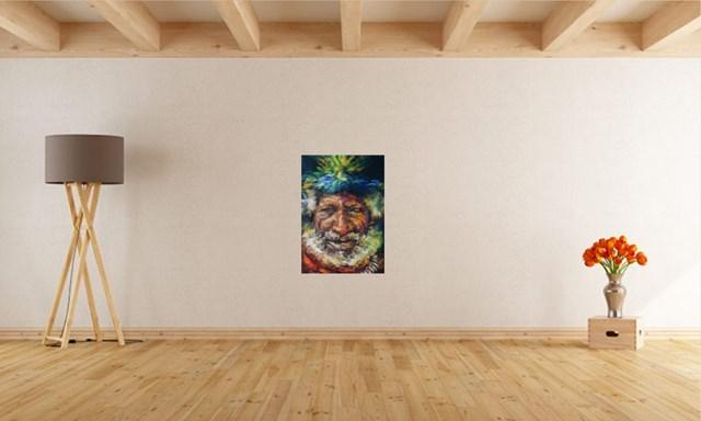 """Szaman Papua Nowa Gwinea z cyklu: """"Ludy ziemi"""" - wizualizacja pracy autora Nikola Kiraga"""