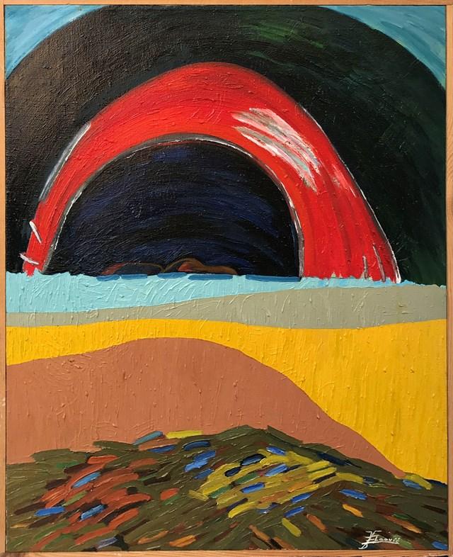 Obraz do salonu artysty Edita Vlaović-Dominik pod tytułem Przed burzą