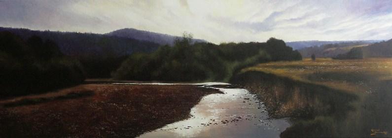 Obraz do salonu artysty Konrad Hamada pod tytułem Po zachodzie słońca