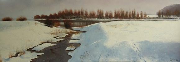 Obraz do salonu artysty Konrad Hamada pod tytułem Zima