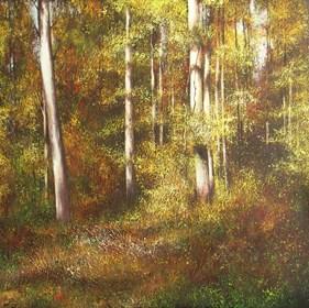 Obraz do salonu artysty Konrad Hamada pod tytułem Złoty las