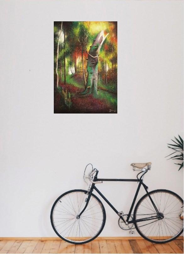Barwy lasu 1 - wizualizacja pracy autora Konrad Hamada