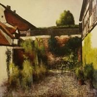 Living room painting by Konrad Hamada titled Coffie house