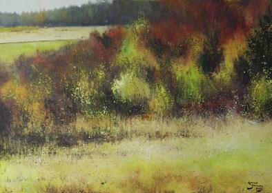 Obraz do salonu artysty Konrad Hamada pod tytułem Jesienny las