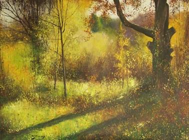 Obraz do salonu artysty Konrad Hamada pod tytułem Jesień