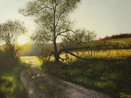 Obraz do salonu artysty Konrad Hamada pod tytułem Wierzby