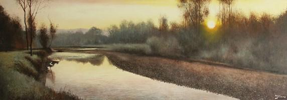 Obraz do salonu artysty Konrad Hamada pod tytułem Zakole rzeki
