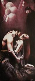 Obraz do salonu artysty Konrad Hamada pod tytułem Namiętność