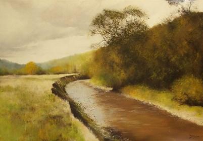 Obraz do salonu artysty Konrad Hamada pod tytułem Rzeka